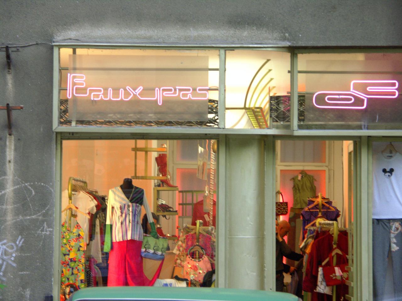 dress shop along Ujezd street